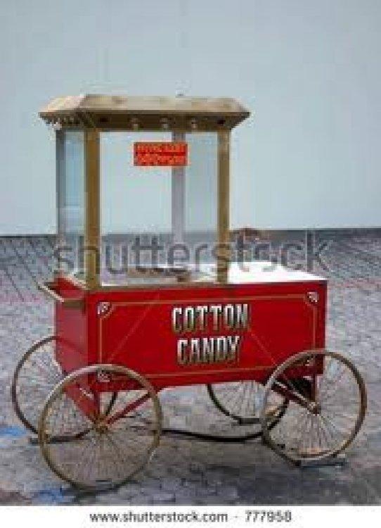 Disney World Cotton Candy Cart
